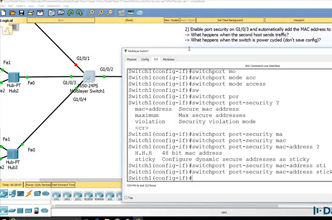Cisco CCNA Packet Tracer Ultimate labs: Port Security